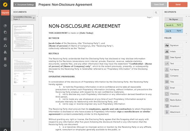 eversign document editor