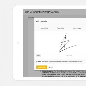 electronic signatures with eversign
