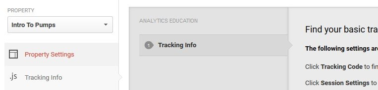 Checking out your website's tracking info.