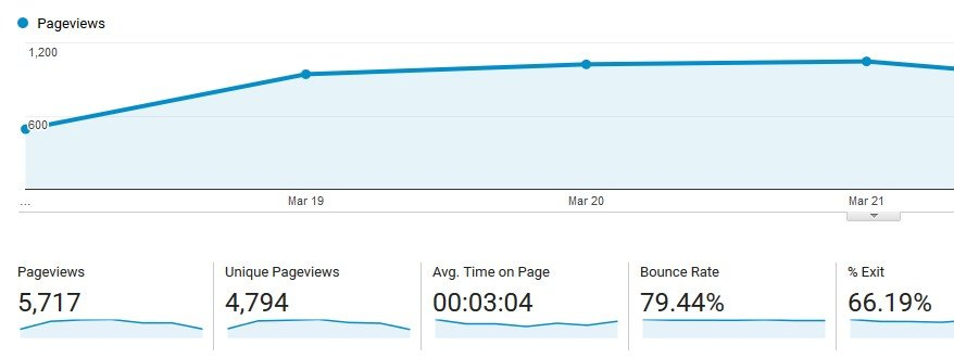 Checking out your website's analytics.