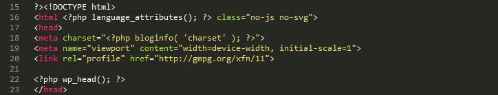 Your header.php file's head tags.