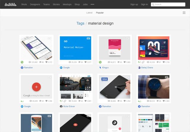 Material Design - Dribbble