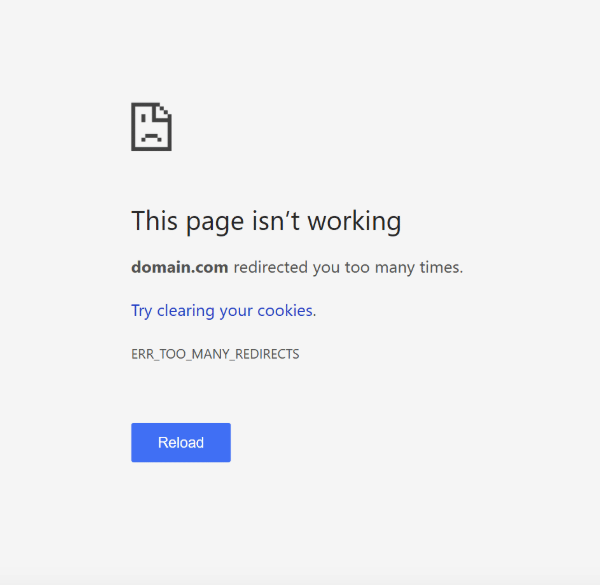 what is the err too many redirects error and how to fix it