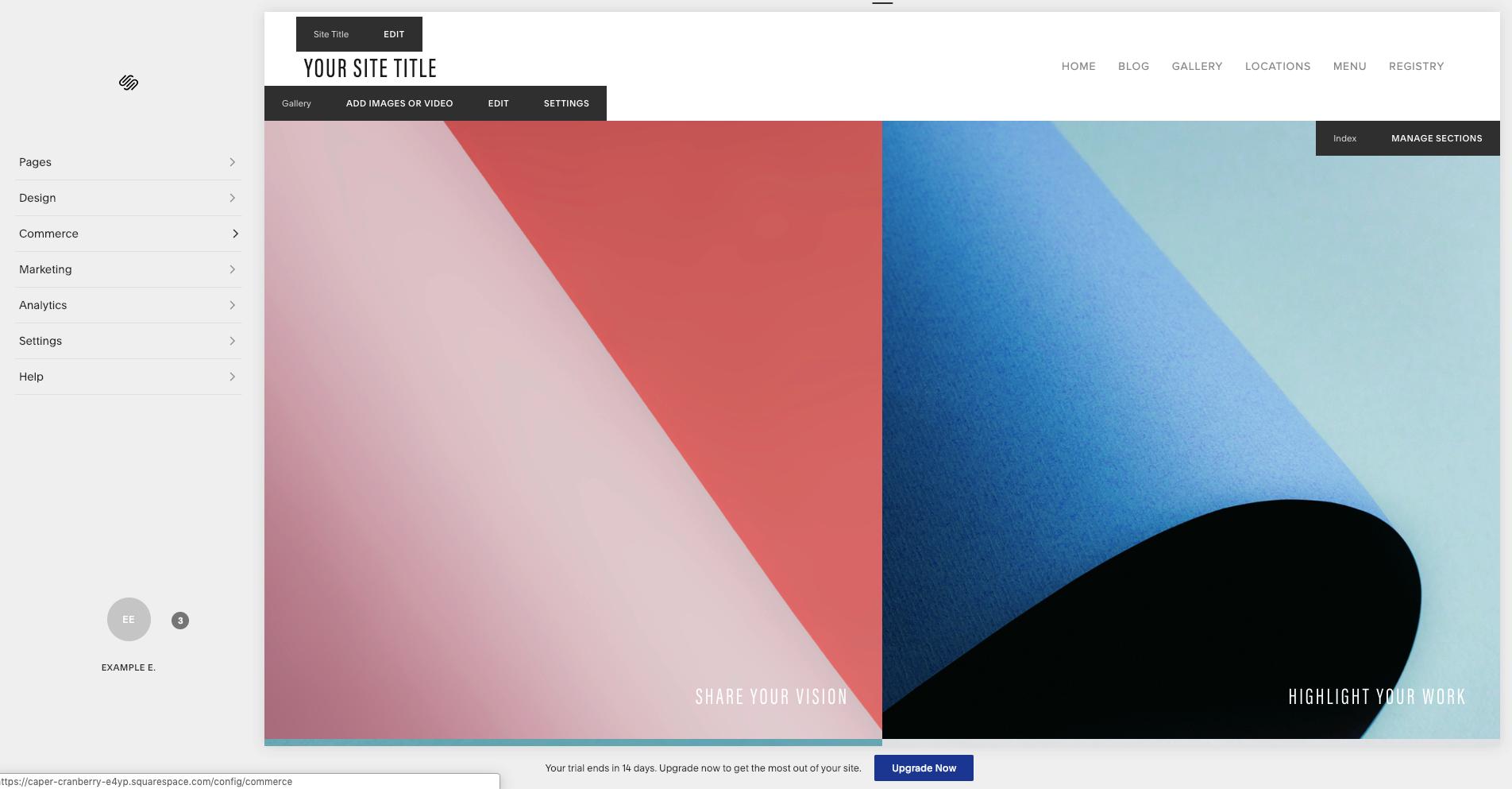 Squarespace website design software