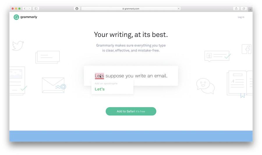 grammarly grammar checker homepage