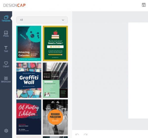 designcap cipta poster profesional melalui atas talian dengan mudah