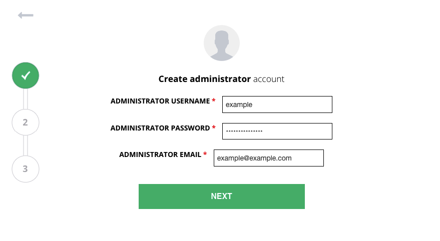 Changing admin details