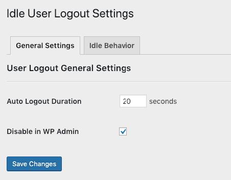 Idle User Logout WordPress Security