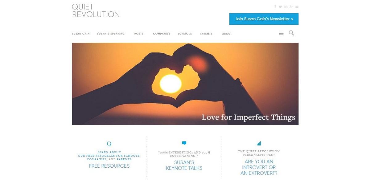 quietrevolution.com blog homepage