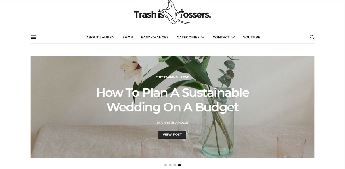 trashisfortossers.com blog homepage