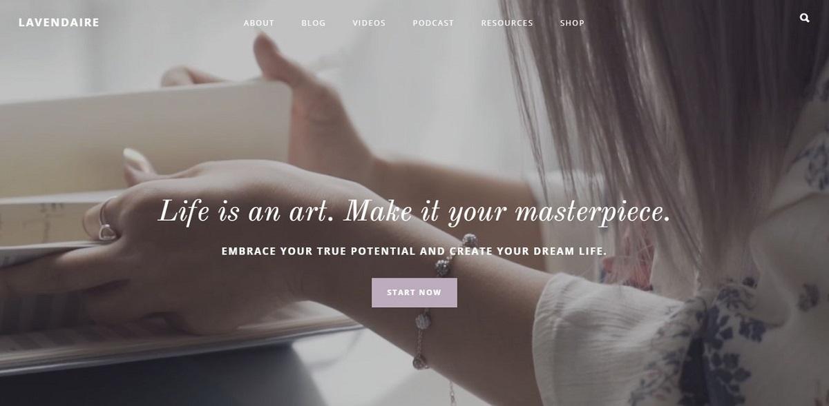 lavendaire.com blog homepage