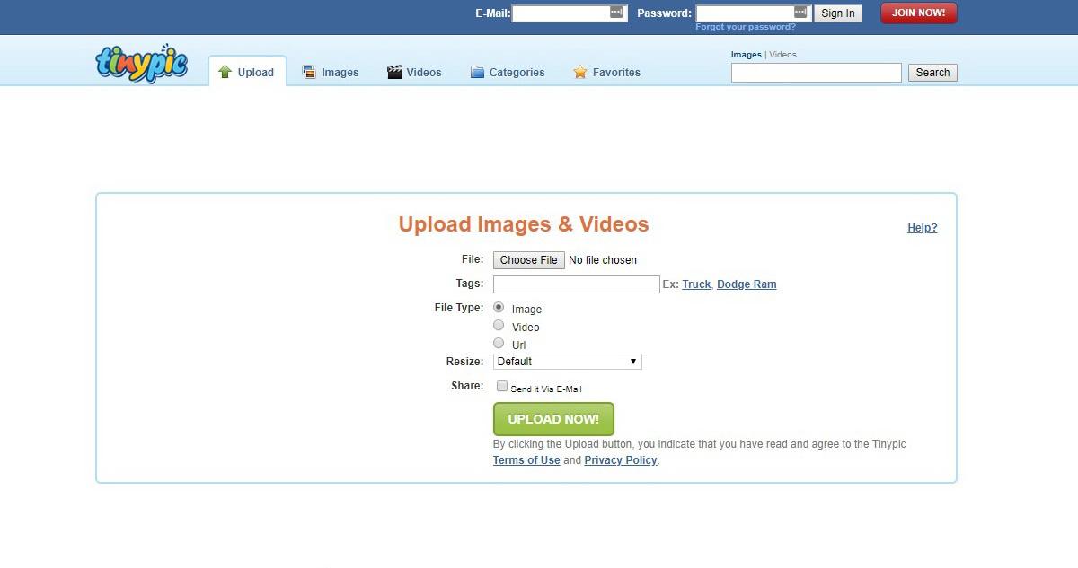 Tinypic Free Image Hosting Sites