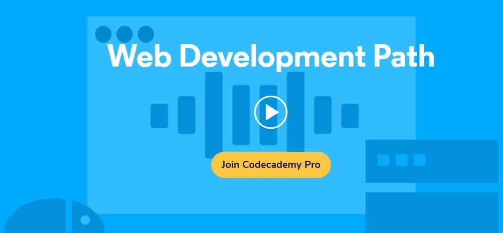 Codecademy's web development course