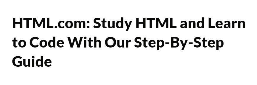 HTML.com banner