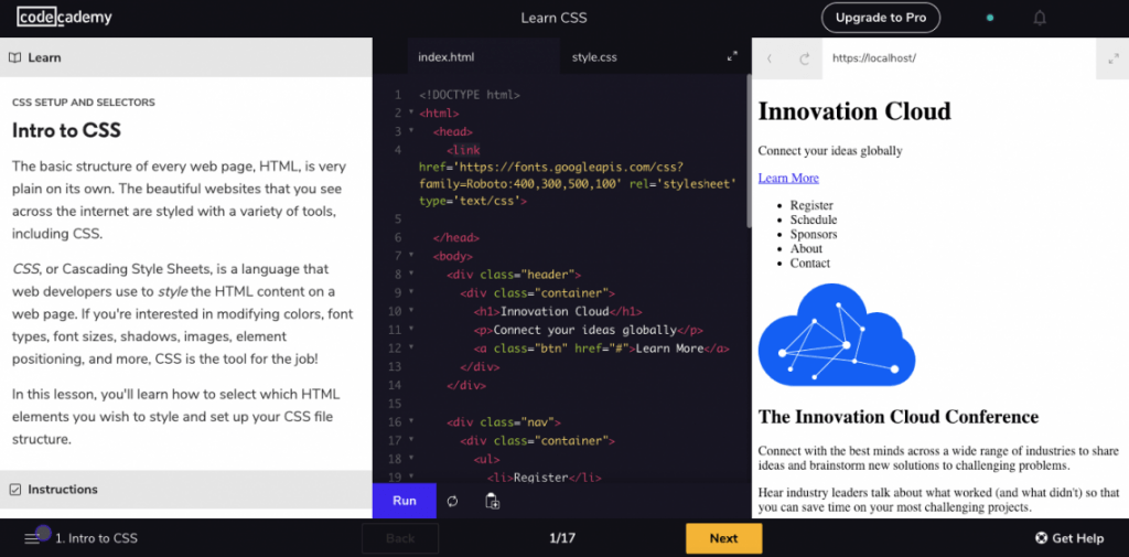 best places to learn css