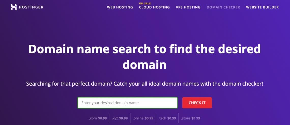 hostinger domain checker