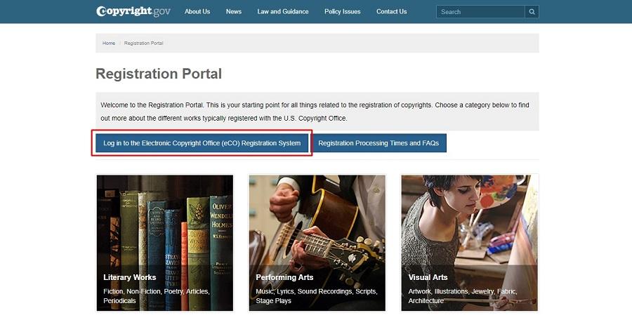 us copyright web portal