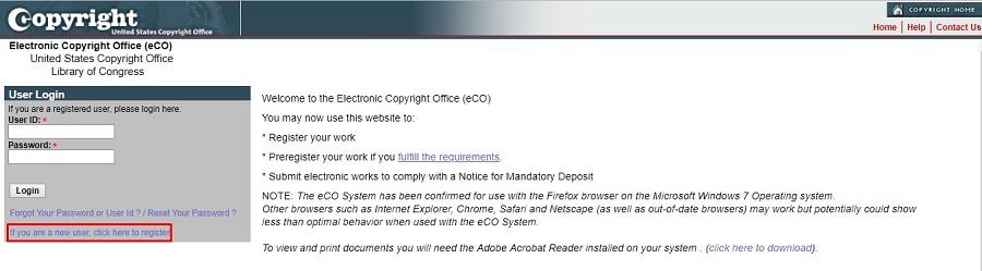 us copyright registration form