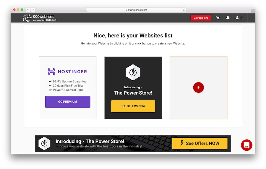 Create a New Website with 000webhost