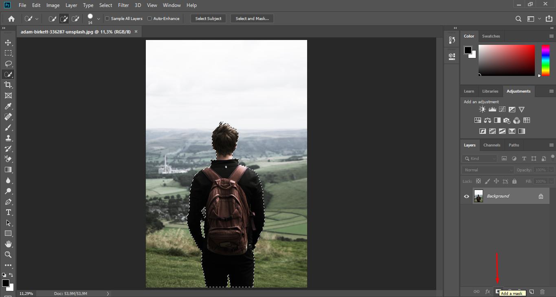 Add Layer Mask Photoshop