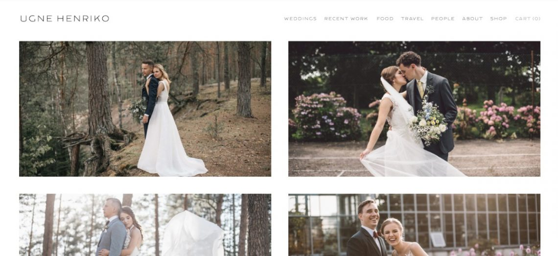 Ugne Henriko photography website example