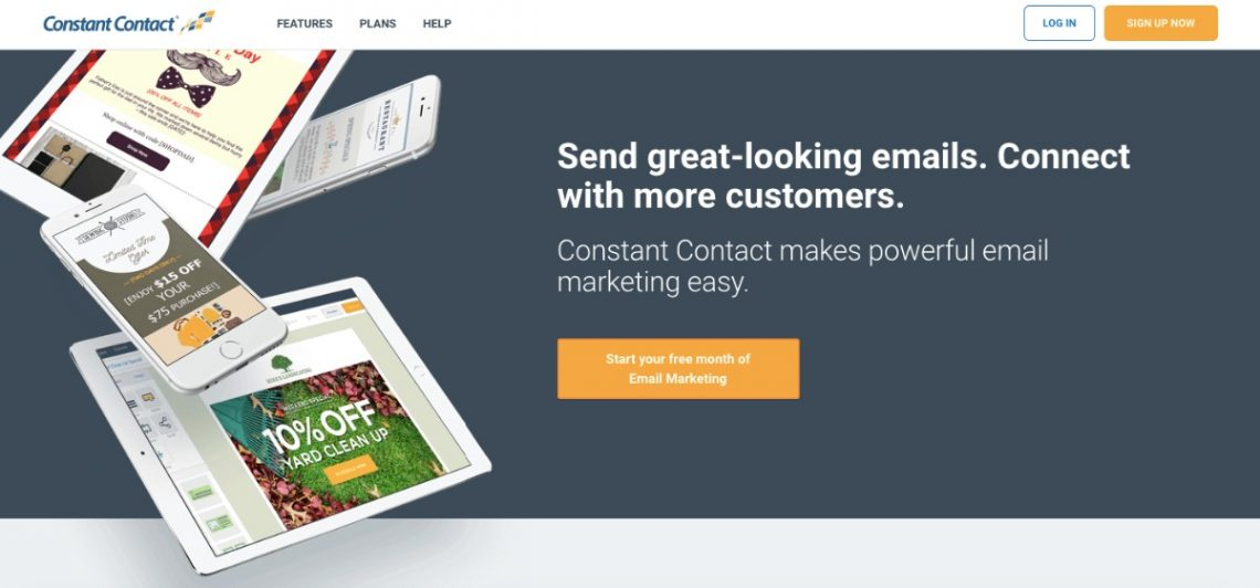 Constant Contact email marketing service homepage