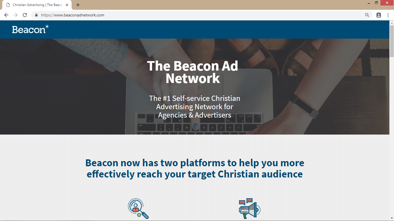 beacon ad network homepage