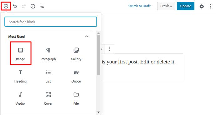 adding images on post instruction
