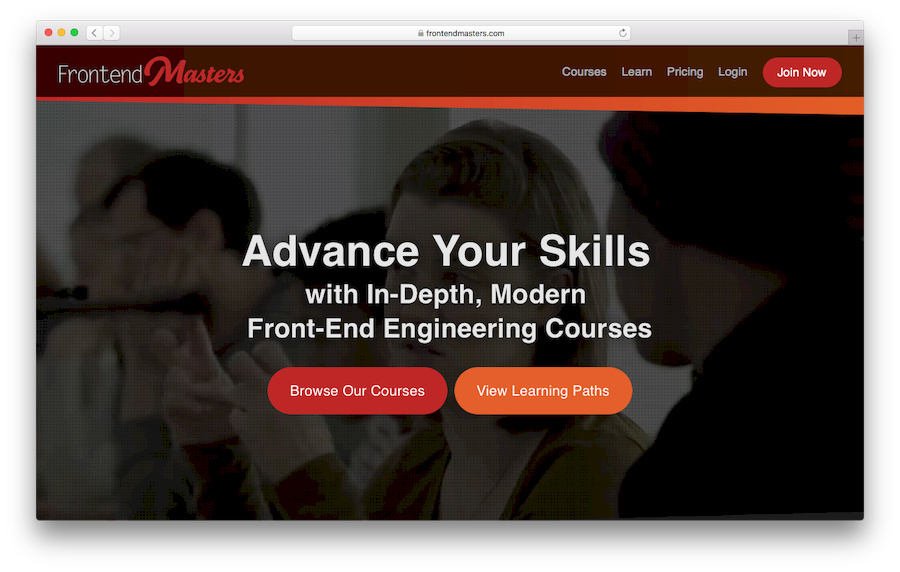 Learn JavaScript with Frontendmasters