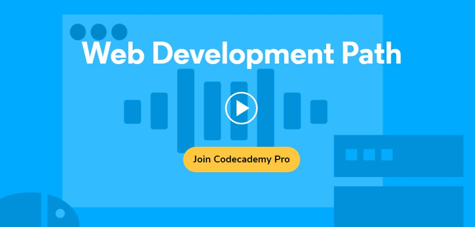 Codecademy courses on web development
