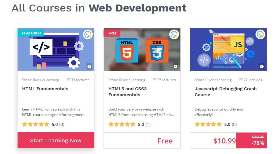 Website development courses on BitDegree