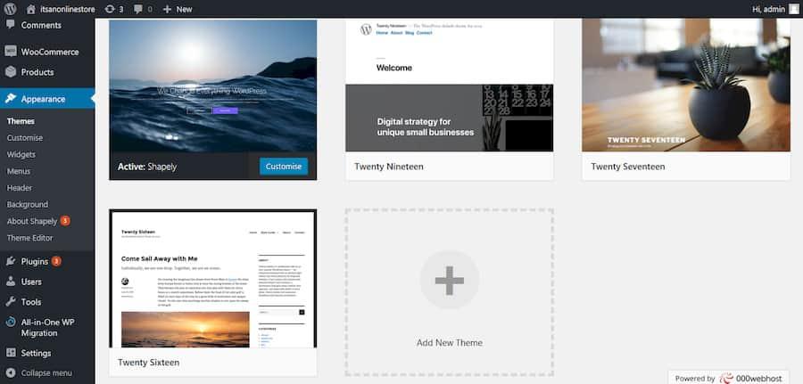 Adding New Themes in WordPress