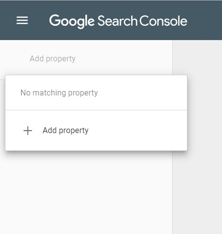 Add Property in Google Search Console