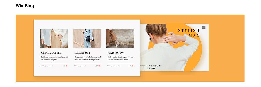 wix blog platform