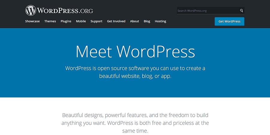 blog platform WordPress