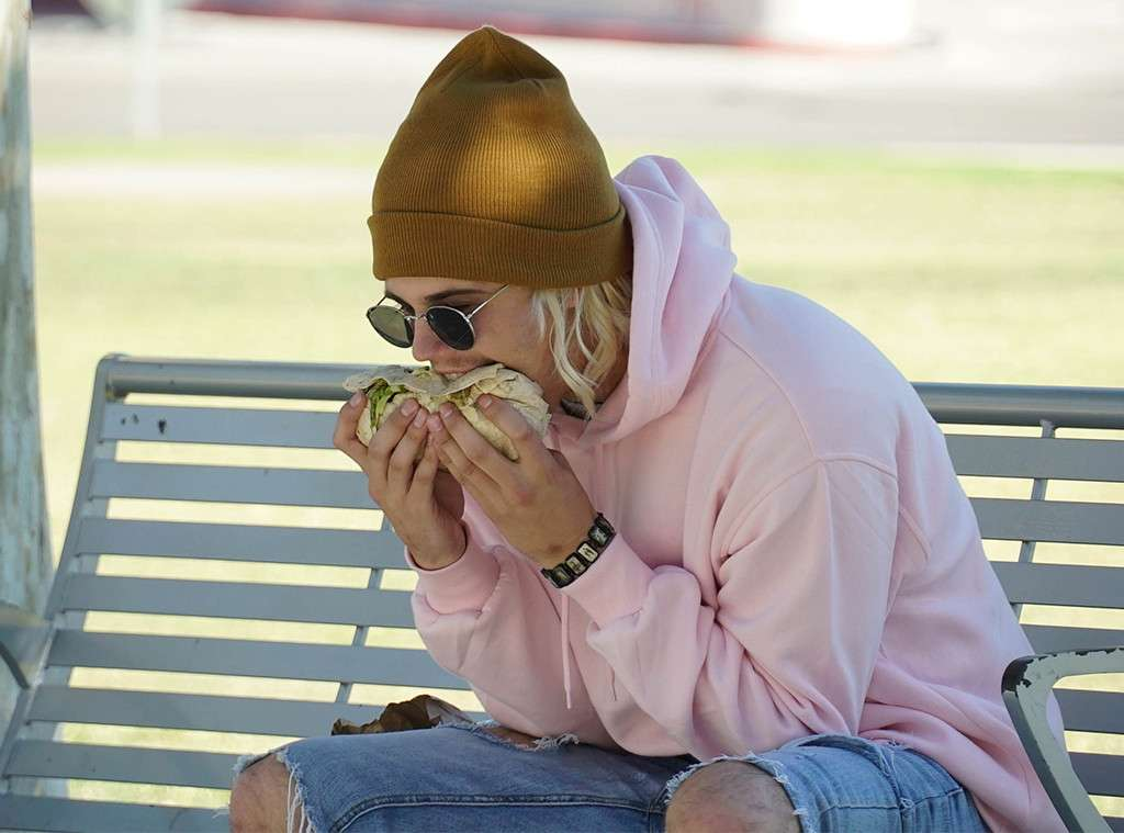 faked photo of justin bieber eating a burrito sideways