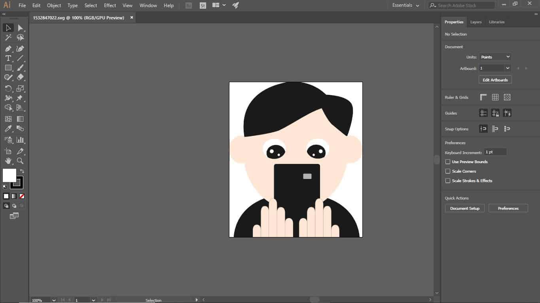 svg file shown on adobe illustrator