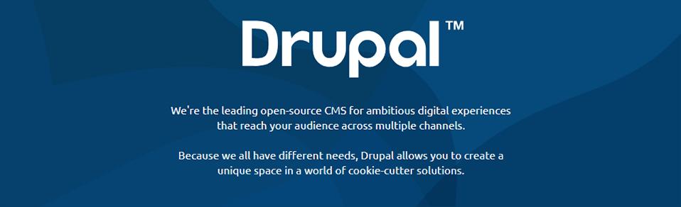 Drupal homepage screenshot