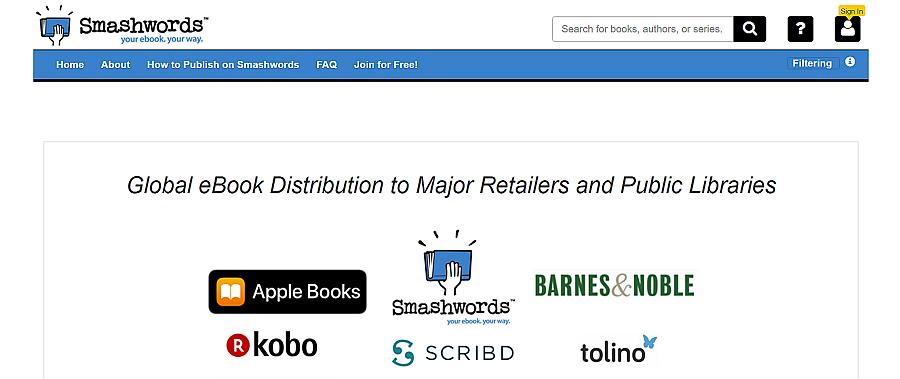distribute ebook at smashwords