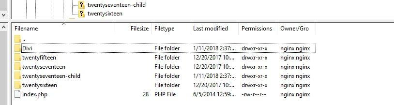 Location of theme folder