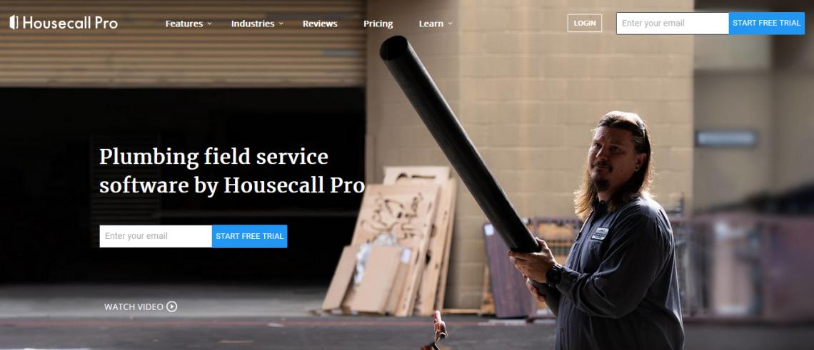 Housecall Pro custom landing page.
