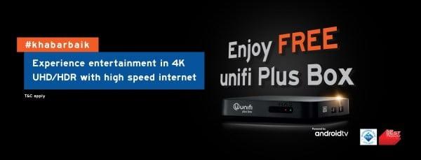 unifi plus box hadir dengan android tv sokongan video 4k dan hdr