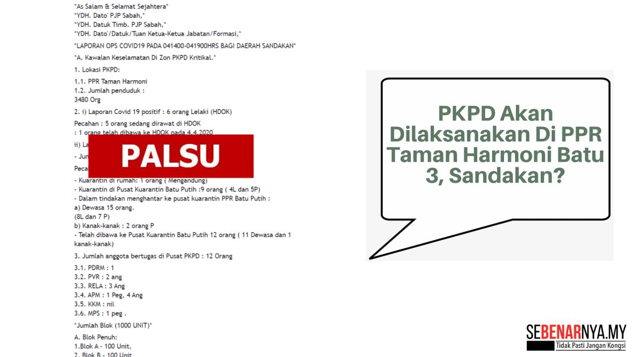 Tiada Pelaksanaan PKPD Di PPR Taman Harmoni Batu 3 ...