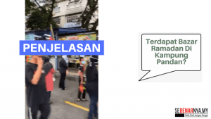 bukan bazar ramadan yang dibuka di kampung pandan