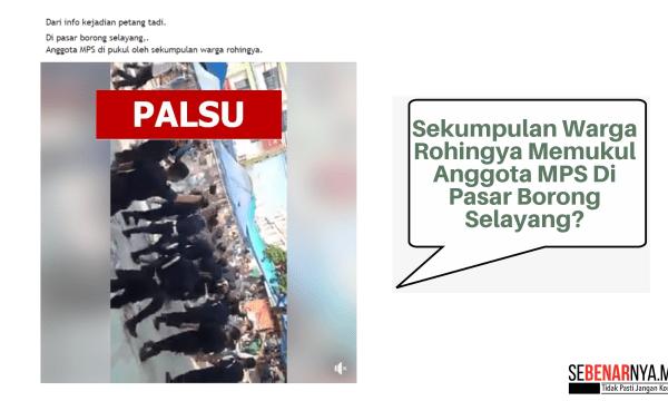 klip video yang mendakwa kononnya sekumpulan warga rohingya memukul anggota mps adalah kejadian yang berlaku di indonesia