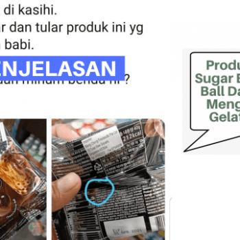 produk brown sugar bubble tea ball tidak memiliki pengesahan halal dari jakim jain dan mengandungi sumber bahan ramuan yang tidak halal