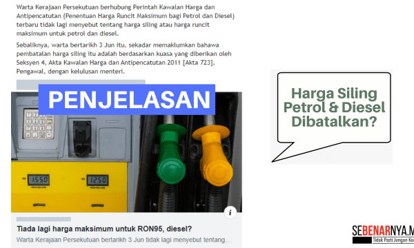 tiada perubahan dasar penetapan harga jualan runcit petrol dan diesel