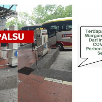 dakwaan terdapat beberapa warganegara asing positif covid 19 di perhentian bas melaka sentral adalah tidak benar
