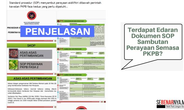 edaran dokumen sop sambutan perayaan semasa pkpb yang tular di media sosial adalah tidak sahih