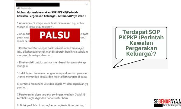 tiada sop pkpkp perintah kawalan pergerakan keluarga dikeluarkan oleh kkm